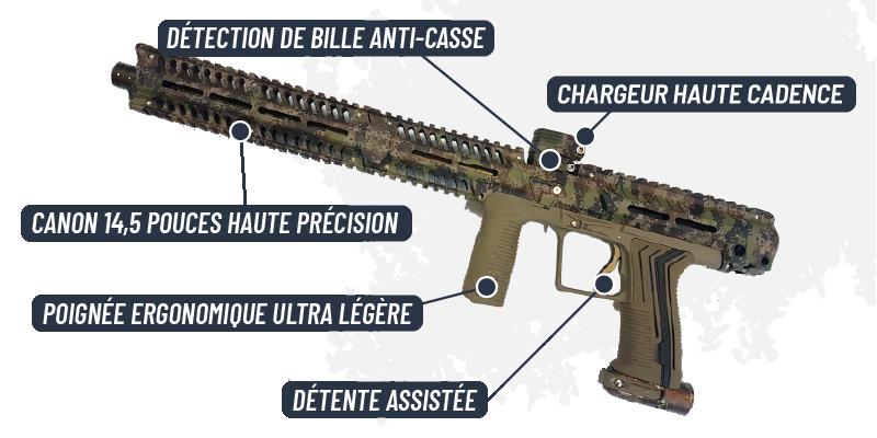 Lanceur power gun Paradise Paintball